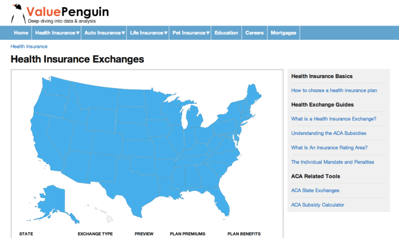 Valuepenguin's founders plugged into publicly available data