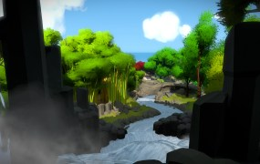 Jonathan Blow's The Witness on PlayStation 4.