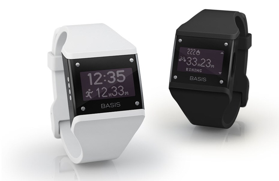 The Basis Band can now display running, biking, or walking data.
