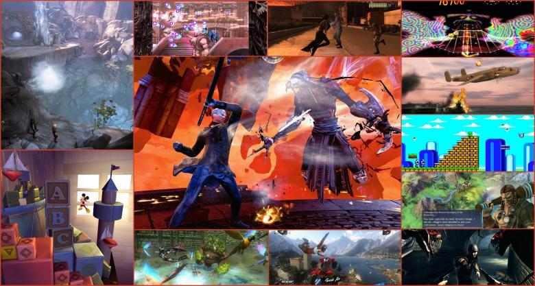 Best current gen games collage