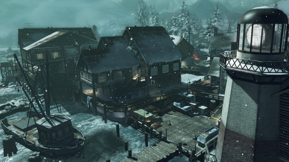Call of Duty: Ghosts Whiteout multiplayer map.