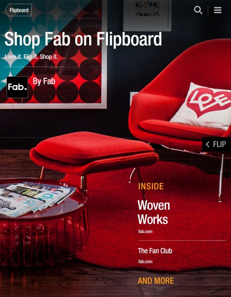 A cover for Fab's catalog within Flipboard.