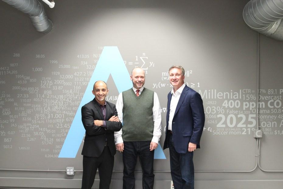 L-R: Bruno Aziza (CMO), Steven Hillion (CPO), Joe Otto (CEO)