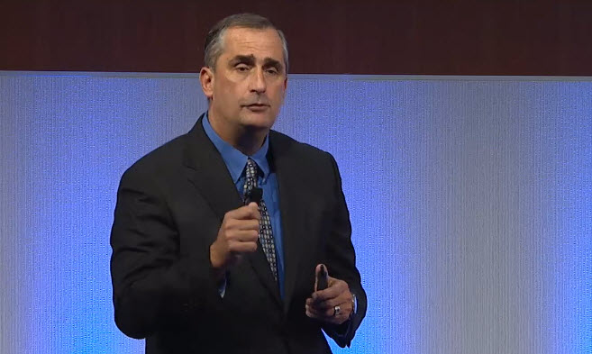 Intel CEO Brian Kraznich at Intel analyst day.