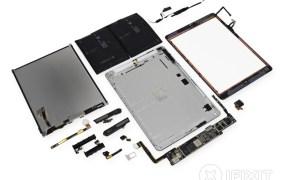 The iPad Air, in all its torn apart glory