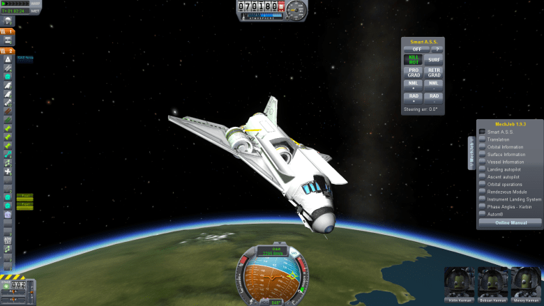 A space shuttle in KSP.