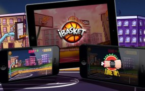 Ludei's own iBasket HTML5 game.