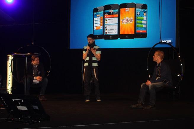 MAG Interactive's Daniel Hasselberg with Nokia's Walter Masalin at Slush
