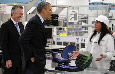 President Obama visit Applied Materials with Mike Splinter.