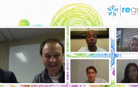 The Regroup team uses their video technology for weekly meetings
