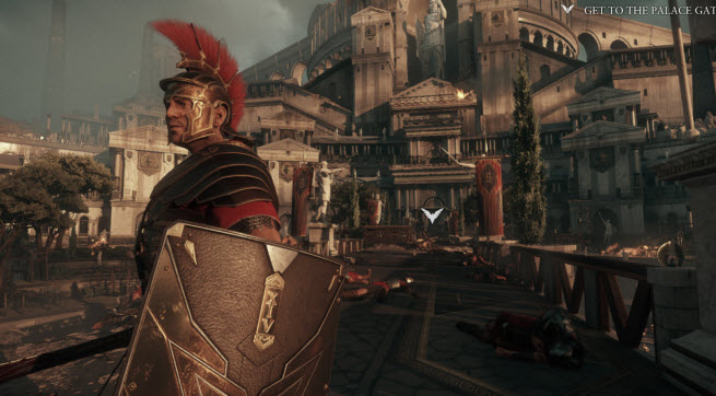 Xbon One launch title Ryse gives you epic views of ancient Rome.