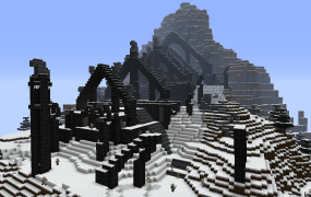 A Skyrim structure in Minecraft.