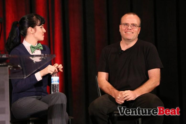 PHP creator Rasmus Lerdorf with VentureBeat's Jolie O'Dell