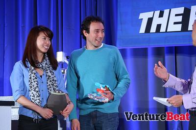 ZowPow's Jennifer Lu and Brian Krejcarek won the Who's Got Game Innovation Showdown in 2013.