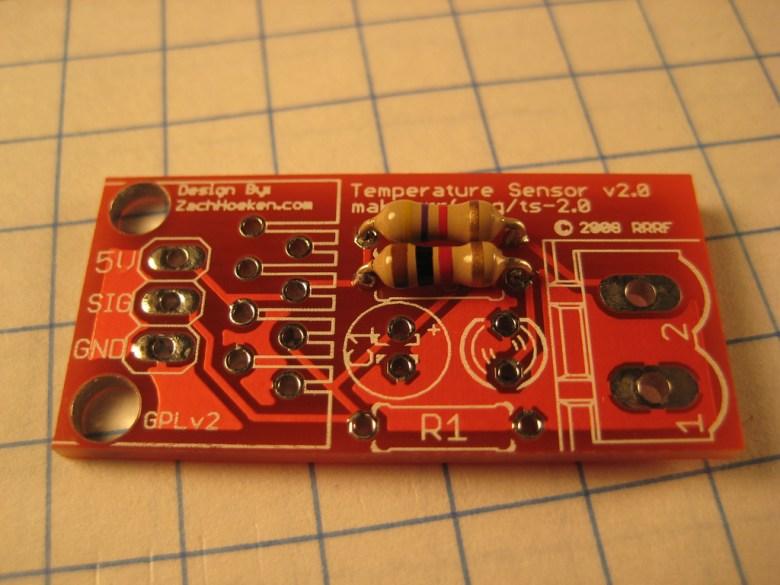 A temperature sensor.