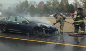 Third Tesla Model S catches fire after hitting road debris.