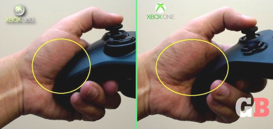 Thumb joints - Xbox 360 vs Xbox One controllers