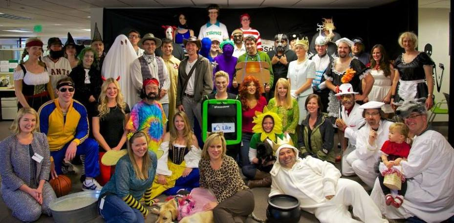 The Glassdoor team on Halloween. Costumes are definitely an important part of company culture.