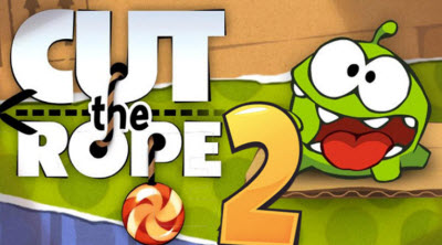 The lovable Om Nom is back in Cut the Rope 2.