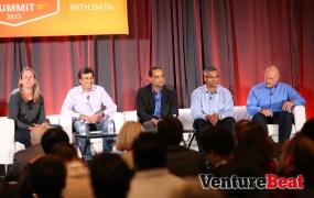 Annika Jimenez of Pivotal, Vineet Singh of Intuit, Anil Varma of GE, Robert Sahadevan of Humana, and Jim Baer of LinkedIn.
