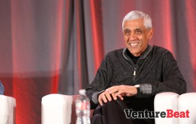 Vinod Khosla, onstage at VentureBeat's DataBeat conference.