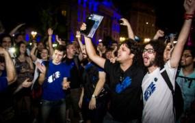 Google Ingress fans celebrate the end of a nine-week event.