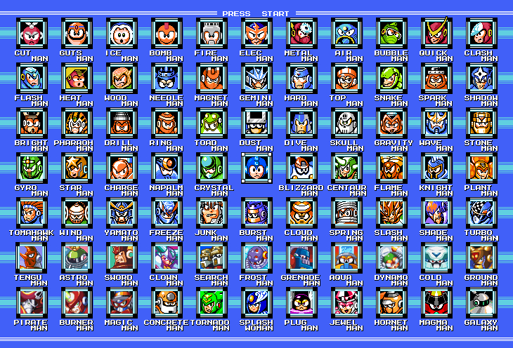 Mega Man 1-9 Bosses