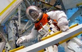 NASA pumpkin suit underwater