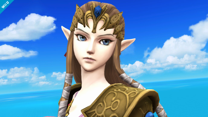 Princess Zelda from Twilight Princess in Super Smash Bros.