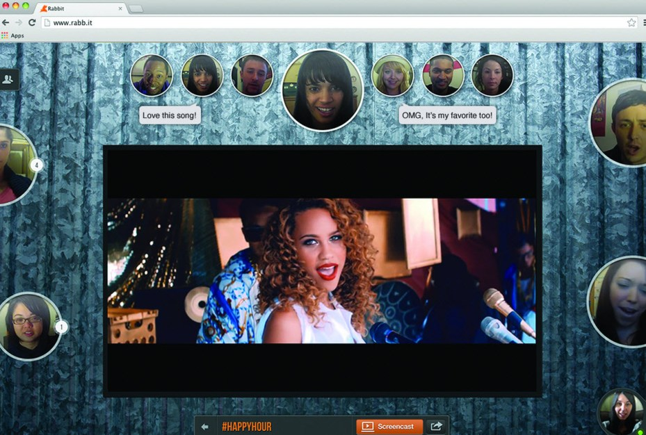 Screenshot of Rabbit video conversations.
