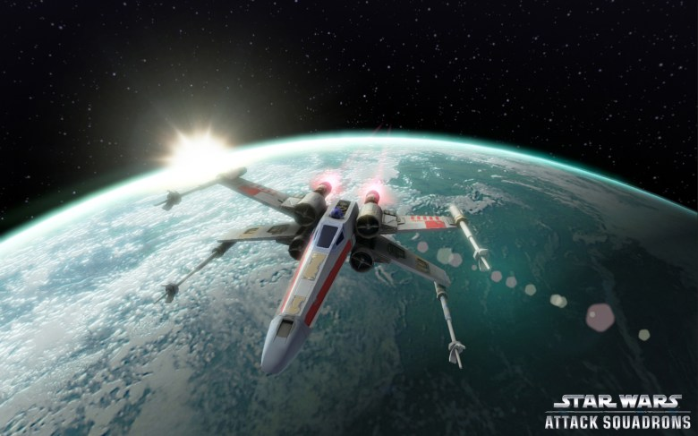 Disney's free-to-play dogfighting game Star Wars Attack Squadron.