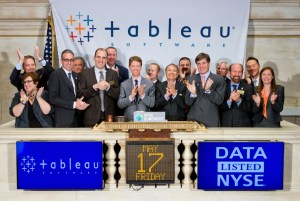 Tableau ringing the bell at the New York Stock Exchange