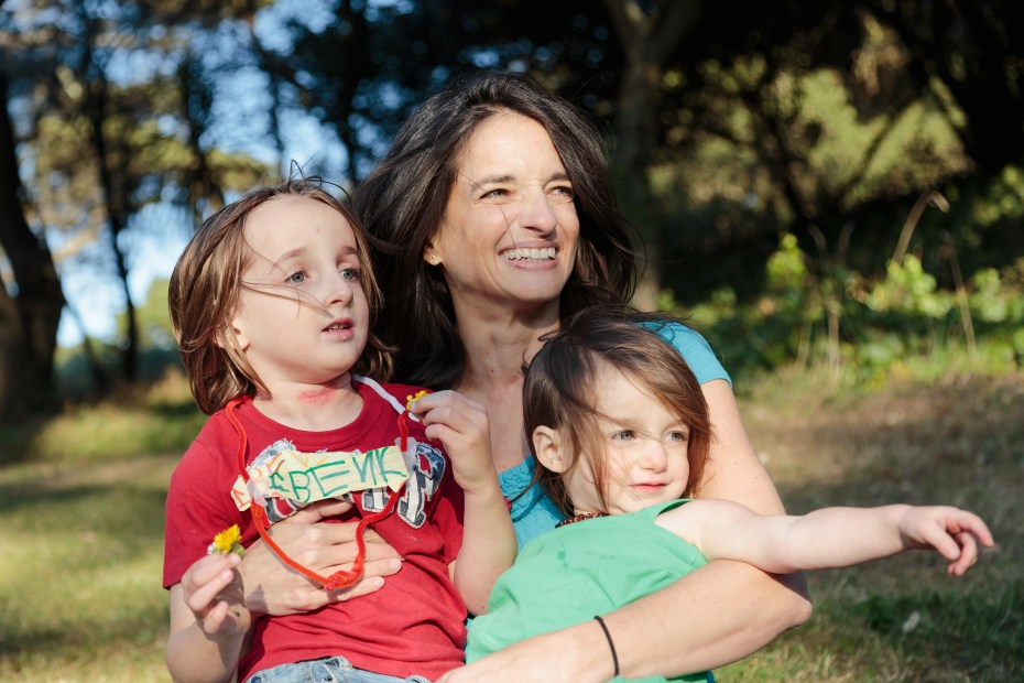 Gooseling cofounder and CEO Vicky Keston with her kids.