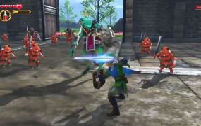 The new Zelda game from Tecmo-Koei, Hyrule Warriors. I'd put my money on Link.