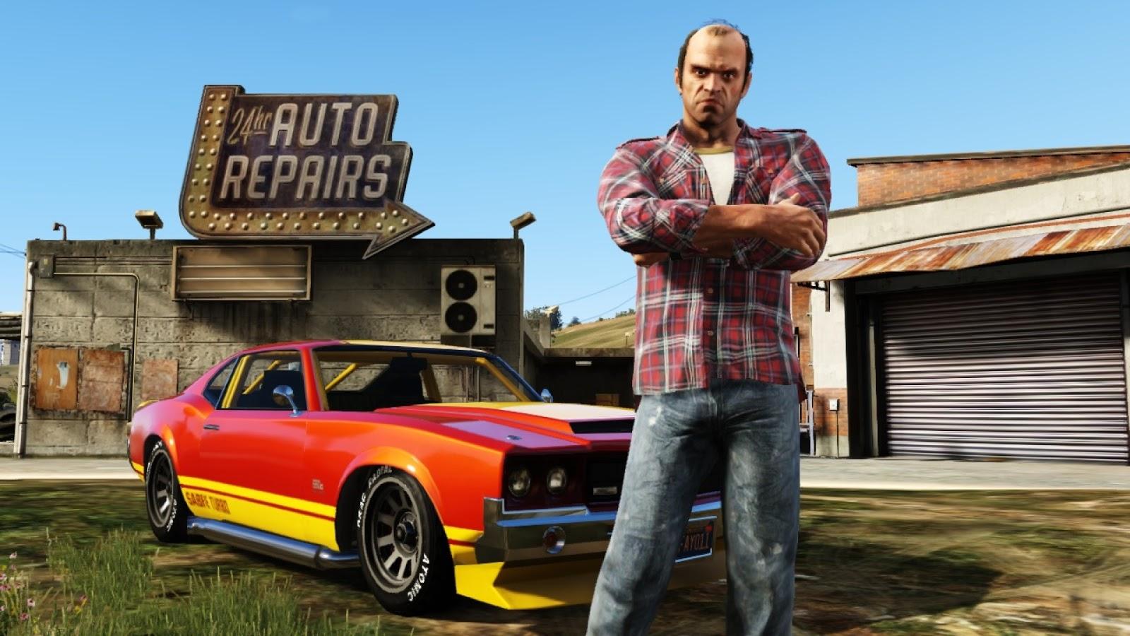 Grand Theft Auto V's visual downgrade makes Trevor very angry.