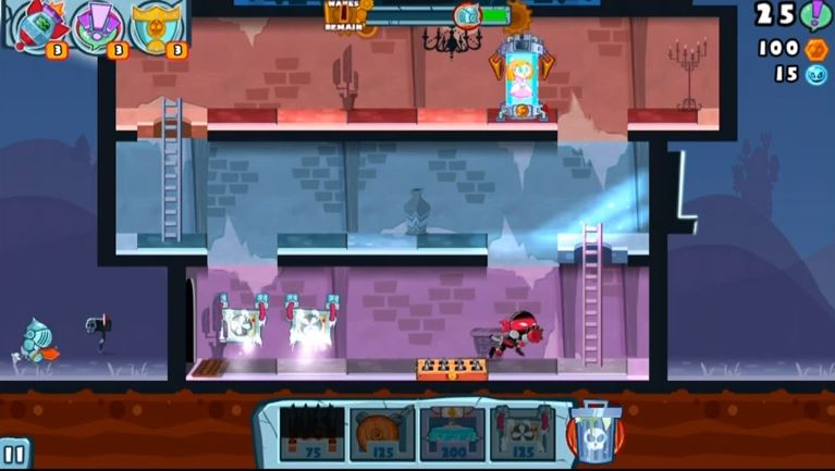 Adult Swim Games' Castle Doombad for iOS.