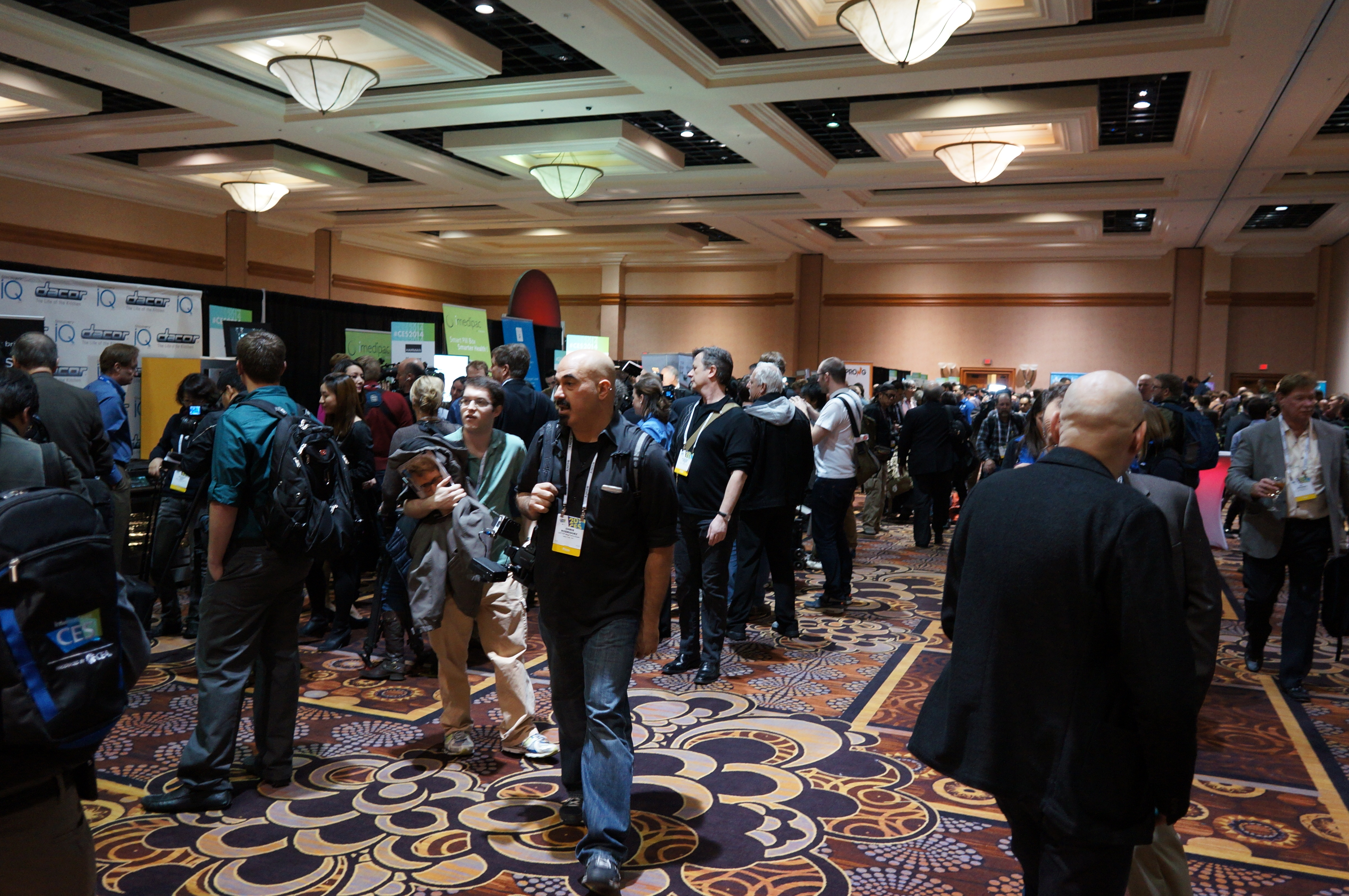 The first major CES press event was jam-packed this year.