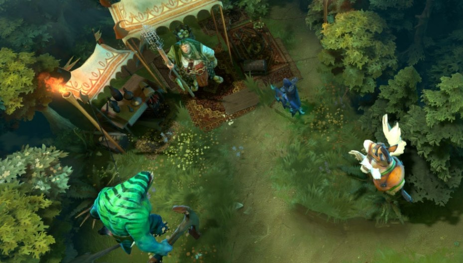 Dota 2, Valve's popular free-to-play MOBA, in action.