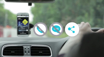 Eyes on the Road app stops you from texting while driving.