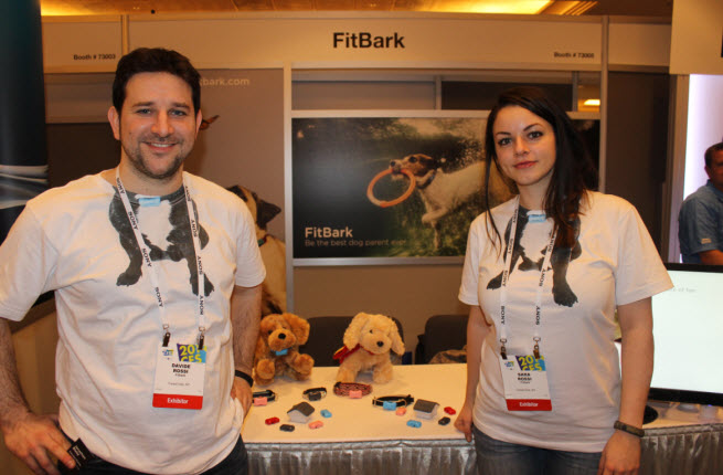 Davide and Sara Rossi, founders of FitBark activity tracker for dogs.
