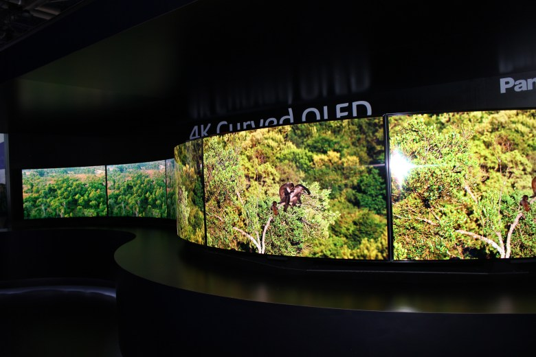 Curved displays were in at Sony #CES2014