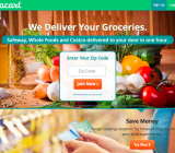 Instacart's home page