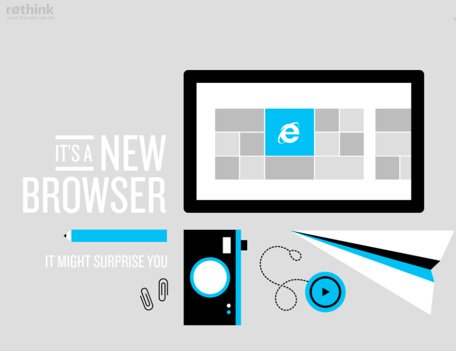 Don't just think about IE. Rethink.