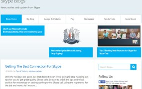 An image of the hacked Skype blog.