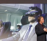 Sony Entertainment president Mike Fasulo briefly shows off the company's new virtual reality headset.