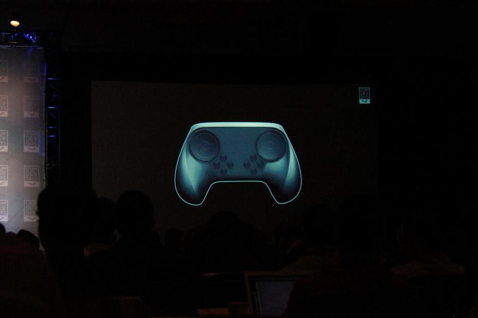 The new Steam Controller design.