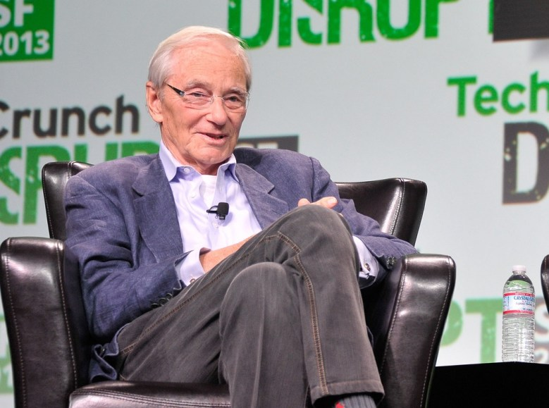 Kleiner Perkins founder Tom Perkins, onstage at TechCrunch Disrupt in September, 2013.