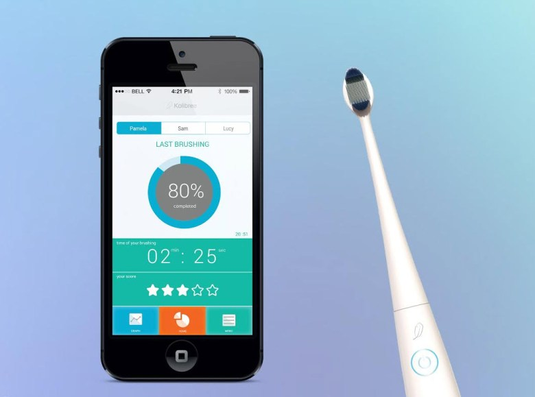 Kolibree's connected toothbrush.