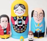 Twitter's founders, as represented by nesting dolls.