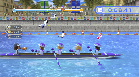 Wii Fit U Rowing Crew
